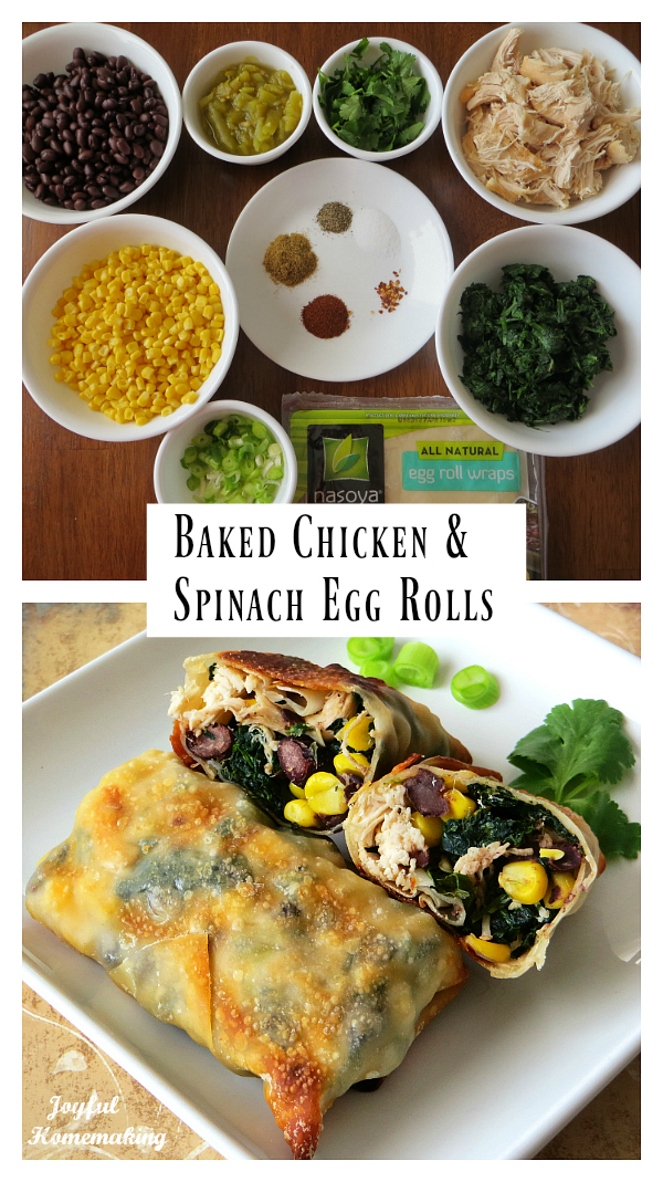 baked chicken spinach egg rolls, Baked Chicken & Spinach Egg Rolls, Joyful Homemaking