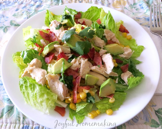 chicken bacon and corn salad