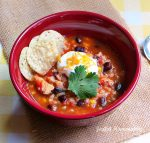 Chicken, Black Bean & Salsa Soup