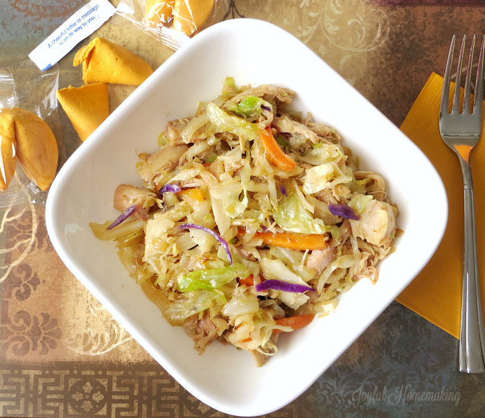 chicken egg roll stir fry93