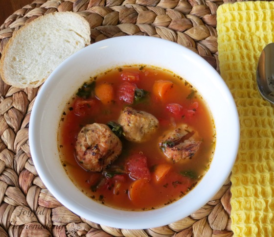 chicken meatball low carb soup