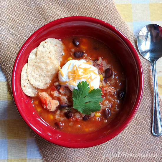 Chicken Black Bean & Salsa Soup