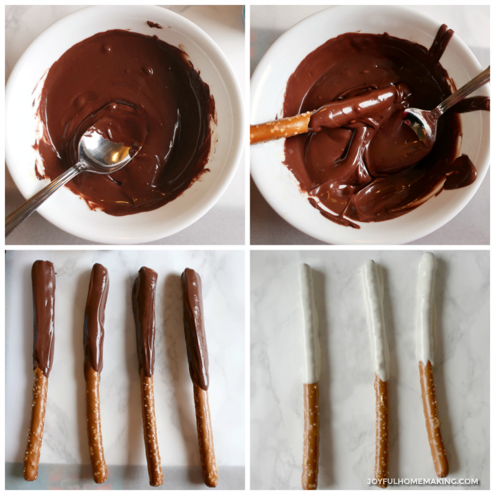 Chocolate Covered Pretzel Rods