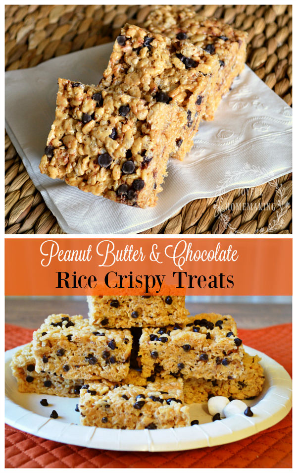Peanut Butter and Chocolate Rice Crispy Treats