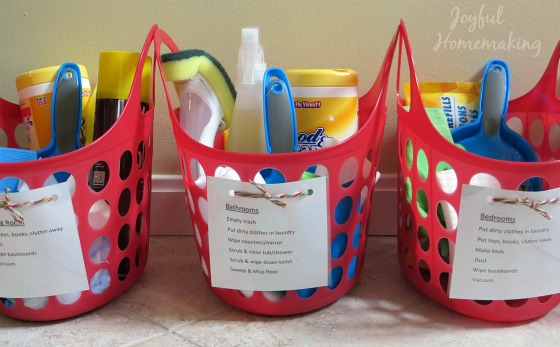 chore kits with free chore printable