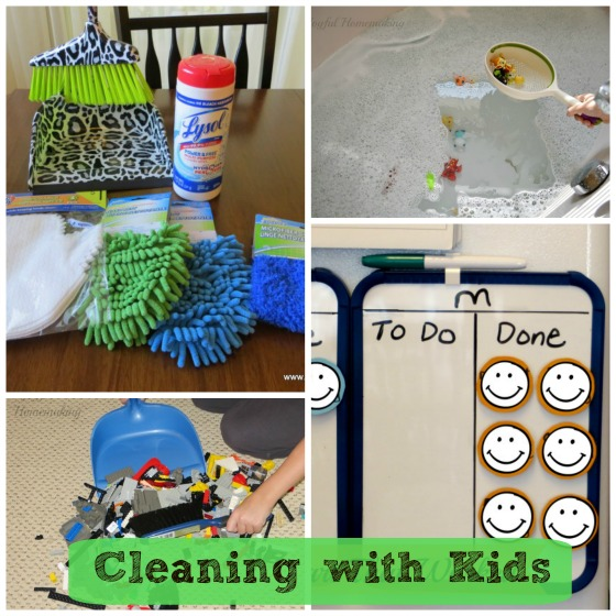 tips for cleaning with kids, Tips for Cleaning With Kids, Joyful Homemaking