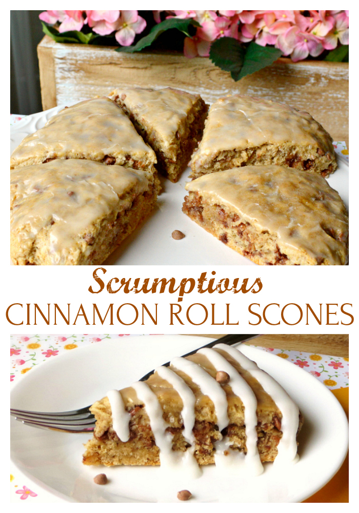 Cinnamon Roll Scones - Joyful Homemaking