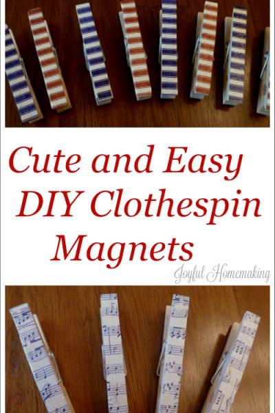 , Button Magnets, Joyful Homemaking