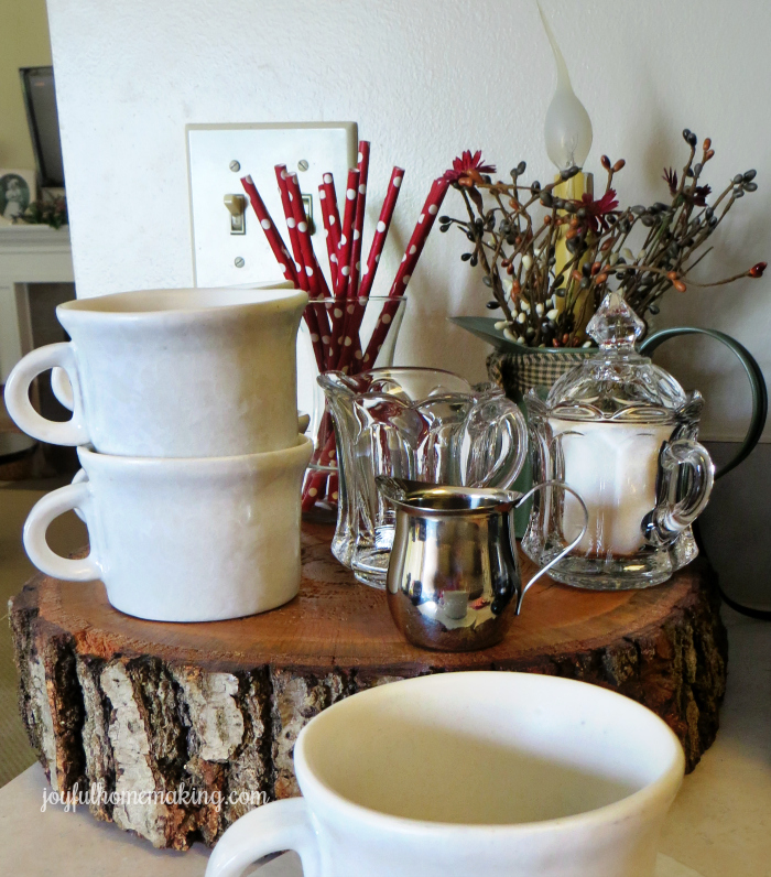 Coffee station ideas joyful homemaking for Coffee station furniture