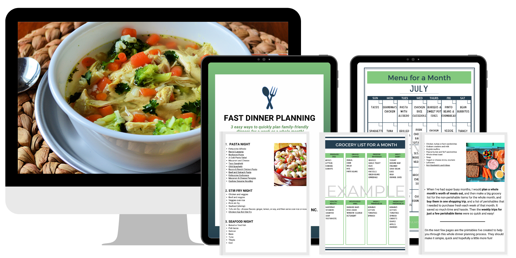Plan Dinners Fast Ebook