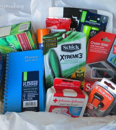 , Back to College Toiletries Care Package, Joyful Homemaking