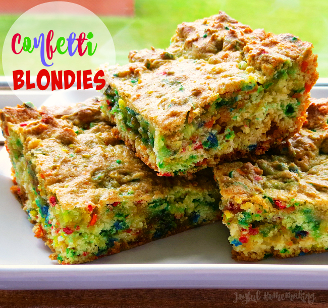 confetti blondies