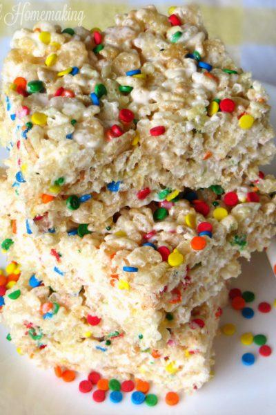 funfetti desserts, 10 Funfetti and Cake Batter Desserts, Joyful Homemaking