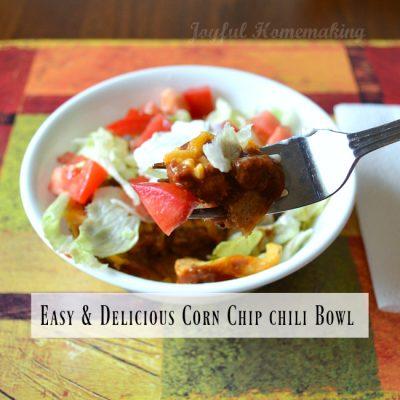 Corn Chip Chili Bowl