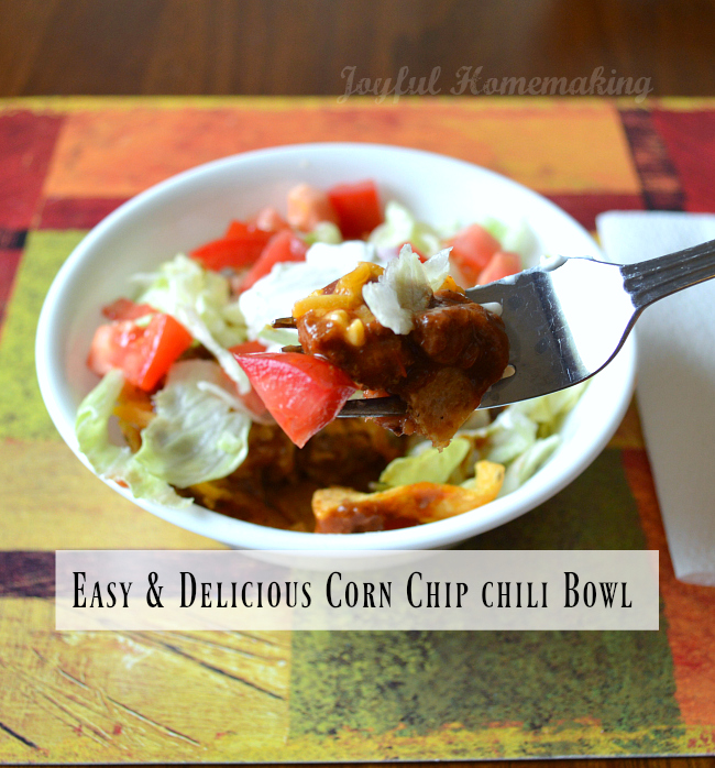 corn chip chili bowl