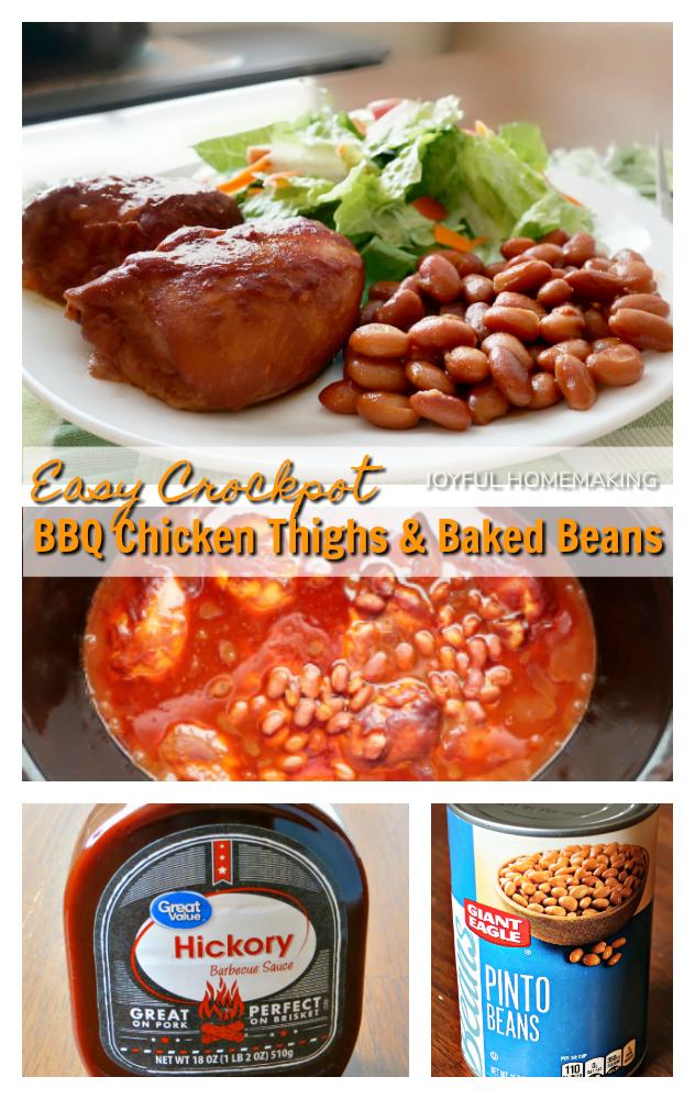, Crockpot BBQ Chicken Thighs, Joyful Homemaking