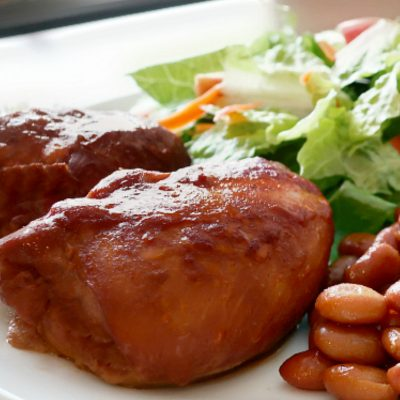 Crockpot BBQ Chicken Thighs