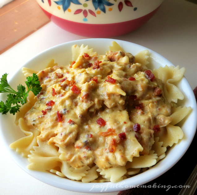 crockpot chicken, Crockpot Bacon & Ranch Chicken and Pasta, Joyful Homemaking