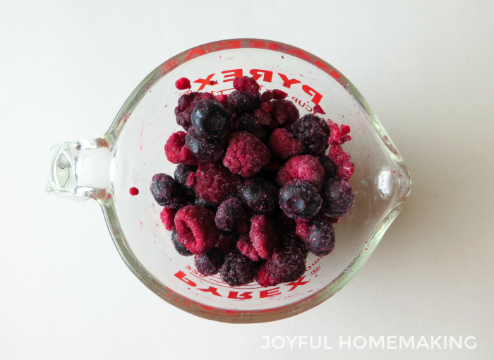 3 Berry Fruit Smoothie