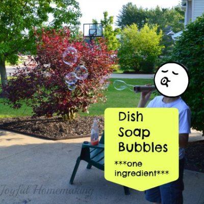 Dish Soap Bubbles