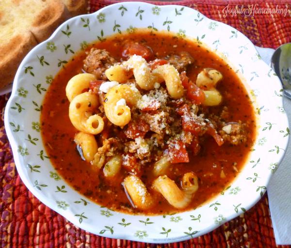 lasagna soup, Lasagna Soup, Joyful Homemaking