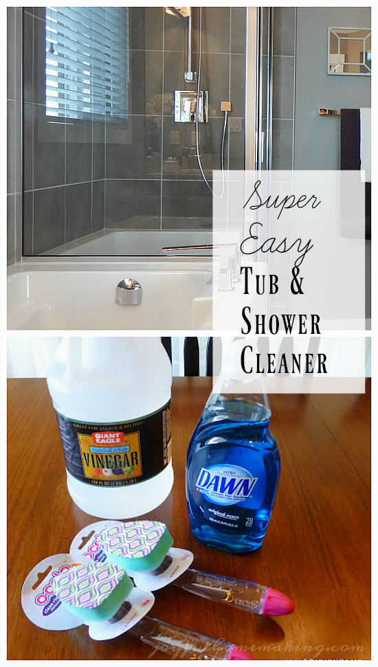 Simple Shower And Tub Cleaner Joyful Homemaking