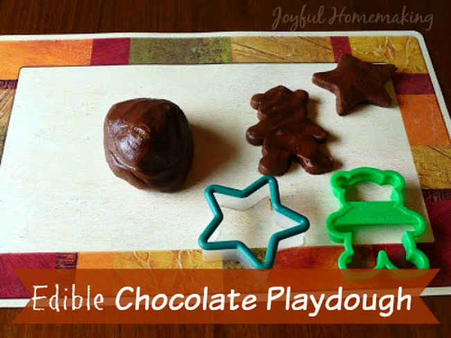 Edible Chocolate Playdough