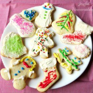 egg free Christmas sugar cookies