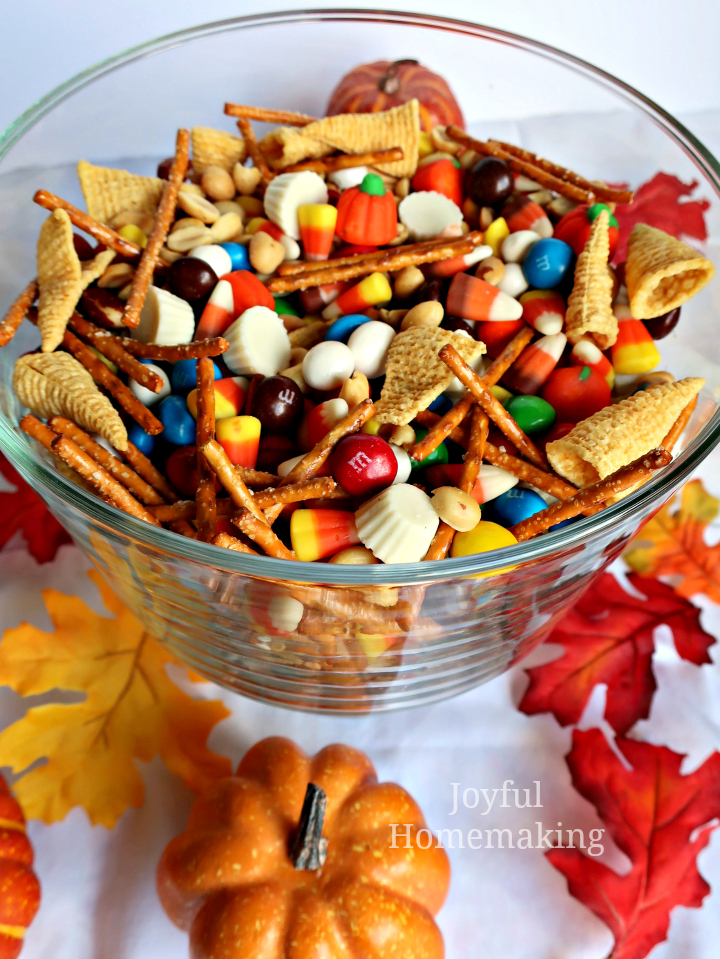 , Fall Sweet and Salty Snack Mix, Joyful Homemaking