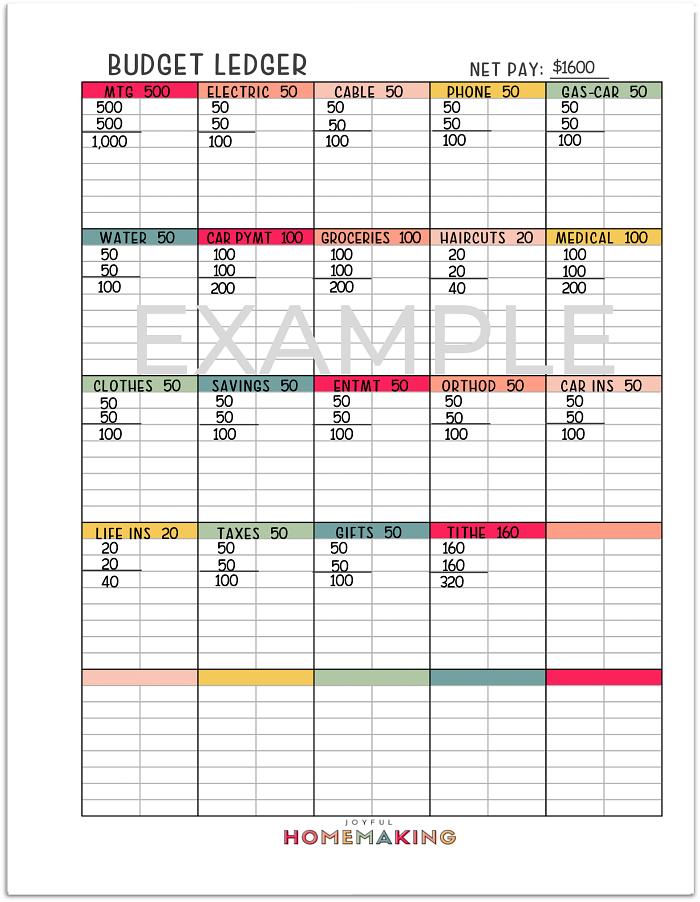 , Free Printable Budget Sheets,