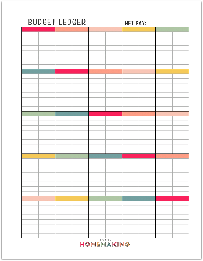 , Free Printable Budget Sheets, Joyful Homemaking