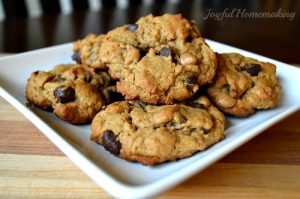 flourless pb and chocolate cookies6