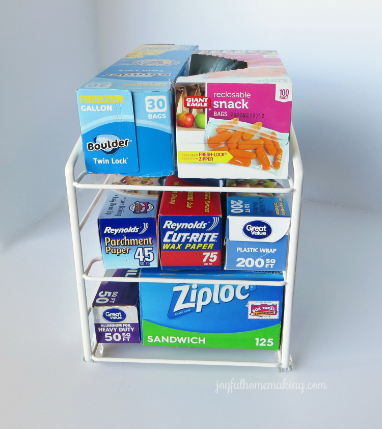food wrap storage and organization