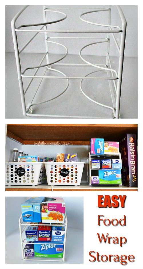 Food Wrap Storage and Organization