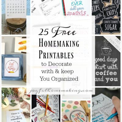 25 Free Homemaking Printables