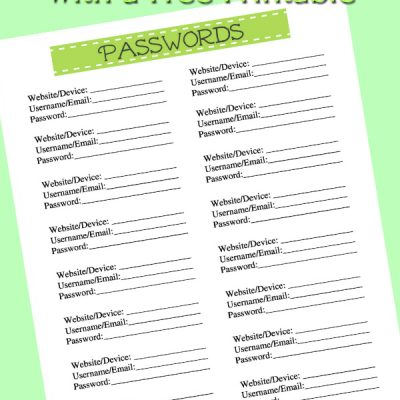 Free Passwords Printables