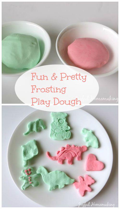 , Frosting Play Dough, Joyful Homemaking