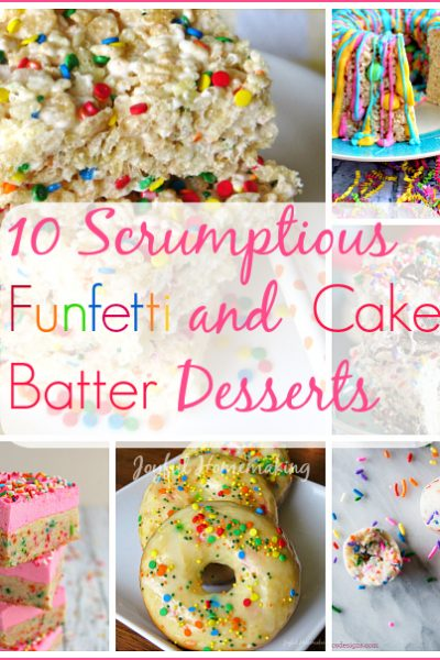 confetti rice crispy treats, Confetti Cake Batter Rice Crispy Treats, Joyful Homemaking