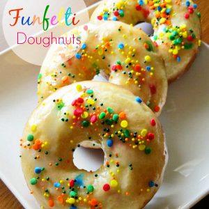 baked funfetti doughnuts, Funfetti Doughnuts, Joyful Homemaking