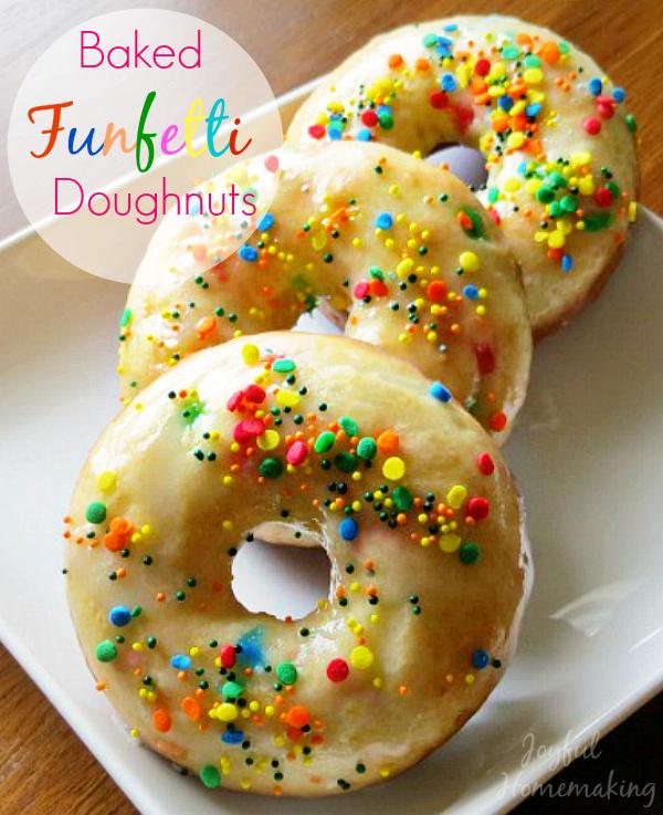 Baked Funfetti Doughnuts