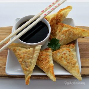 garlic wontons, Garlic Wontons, Joyful Homemaking