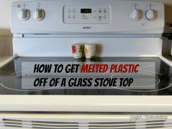 getting melted plastic off stove7