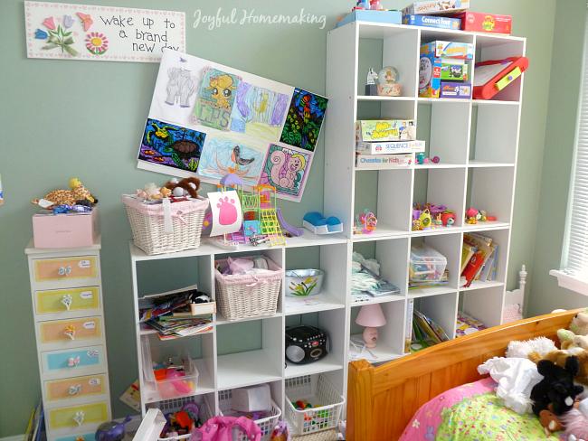 girl's room organization, Organizing for my Daughter, Joyful Homemaking