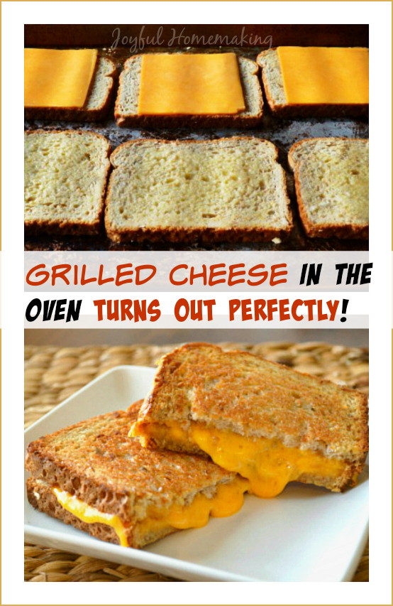 grilled cheese in the oven2