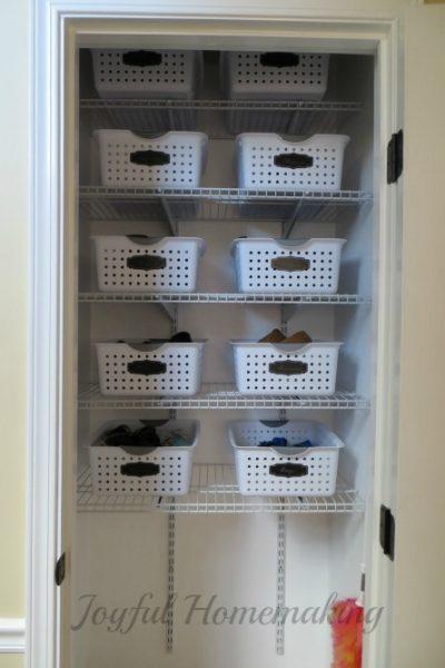 , Coat Closet Organization, Joyful Homemaking