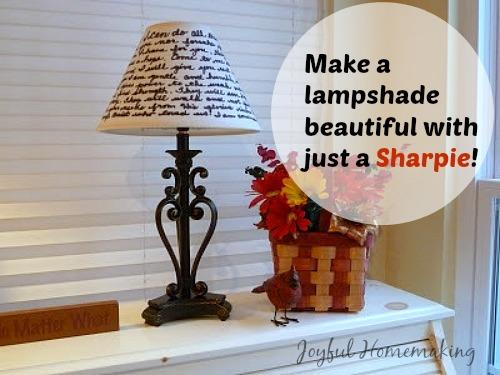 Handwritten lampshade joyful homemaking handwritten lampshade mozeypictures Image collections