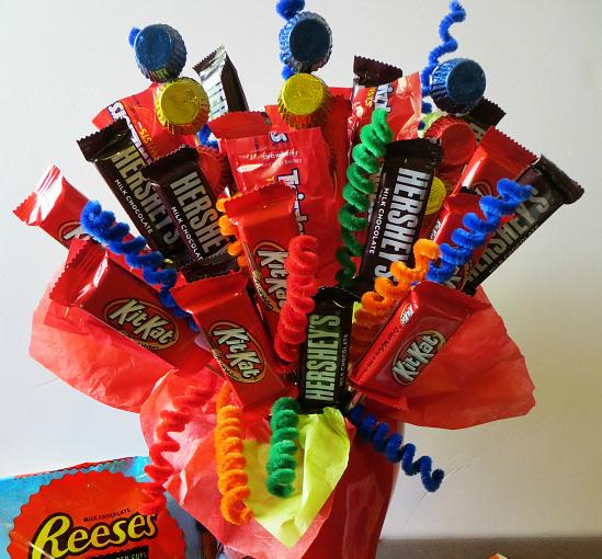 Make a Birthday Candy Bouquet