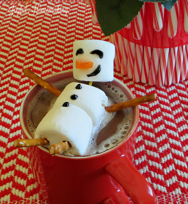 Hot Cocoa Marshmallow Snowman