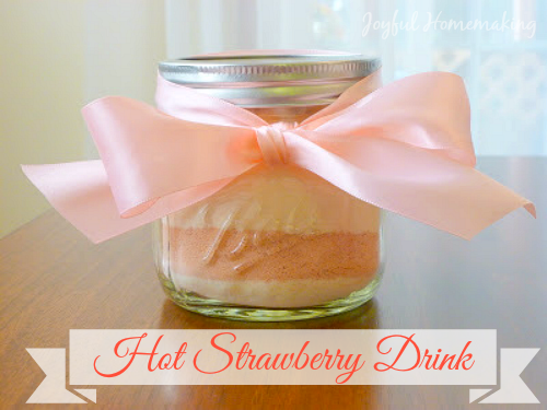 hot strawberry drink