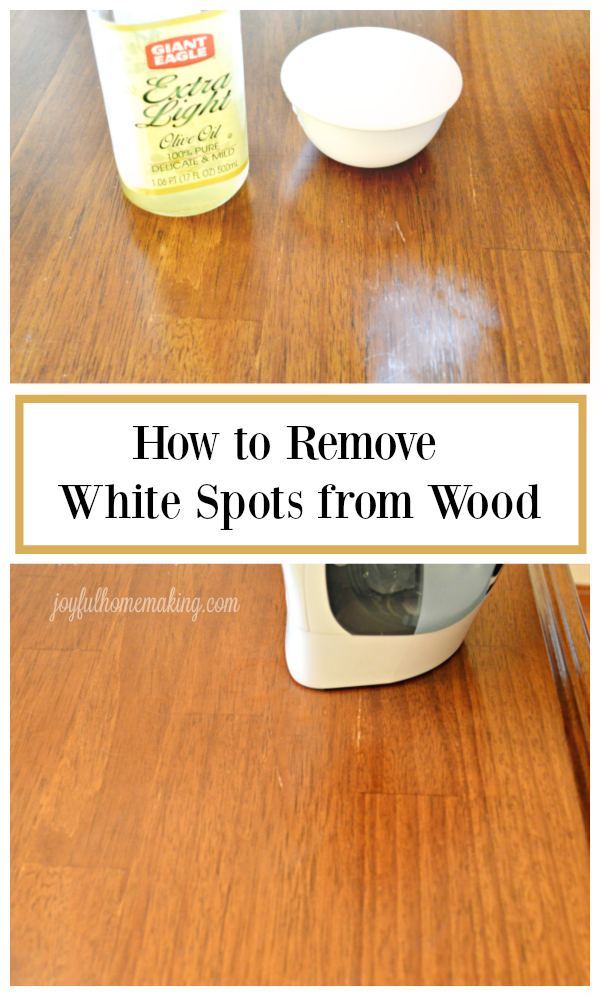 How to Remove white spots from wood